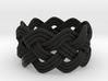 Turk's Head Knot Ring 4 Part X 9 Bight - Size 7 3d printed