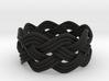 Turk's Head Knot Ring 4 Part X 8 Bight - Size 8 3d printed