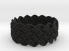 Turk's Head Knot Ring 5 Part X 15 Bight - Size 10. 3d printed
