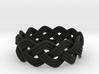 Turk's Head Knot Ring 3 Part X 11 Bight - Size 11. 3d printed