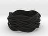 Turk's Head Knot Ring 5 Part X 5 Bight - Size 7 3d printed