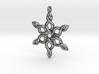 Snowflake Pendant 30mm 3d printed