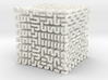 Square 3D Hilbert curve (4th order) 3d printed