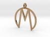 M Pendant 3d printed
