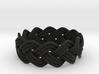 Turk's Head Knot Ring 3 Part X 12 Bight - Size 9.5 3d printed