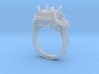 Radiant Halo Pear Diamond Ring 3d printed