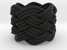 Turk's Head Knot Ring 6 Part X 6 Bight - Size 1 3d printed