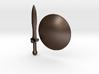 Real metal Shield & Sword for V3 Spartan 3d printed