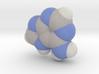 Adenine molecule (x40,000,000, 1A = 4mm) 3d printed