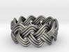 Turk's Head Knot Ring 3 Part X 11 Bight - Size 7 3d printed