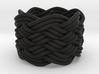 Turk's Head Knot Ring 7 Part X 7 Bight - Size 3.75 3d printed
