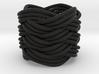 Turk's Head Knot Ring 7 Part X 4 Bight - Size 1 3d printed