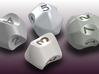 set of dice with concave faces (digits) 3d printed