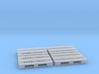 1:87 Europalette H1 Kunststoff durchbrochen 4er S 3d printed