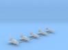 1/2500 NASA Orbiter Fleet (Printed) 3d printed