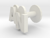 Initials cufflink 3d printed recommended for fitting purposes