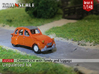 Citroën 2CV - family on tour (British N 1:148) 3d printed