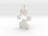 Custom Paw Print Pendants - Roxy's Paw Print 3d printed