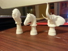 Wild Horse (Round Base) 3d printed White SF Polished