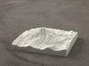 4'' Mt. Jefferson, Oregon, USA, Sandstone 3d printed Rendering of Mt. Jefferson model from the West side