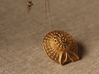 """""""Summer time"""" gold steel pendant 3d printed"""