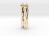 twist earrings 3d printed