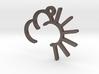 Sunny Cloud - Weather Symbol Pendant 3d printed