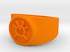 Orange Avarice GL Ring Sz 15 3d printed
