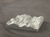 4'' Picket Range, Washington, USA, Sandstone 3d printed Rendering of model from the East, with McMillan Creek on the left