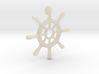 Ships Wheel Pendant 3d printed