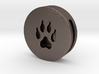 Band Charm round - Wolf Paw print 3d printed Band Charm - Wolf Paw steel