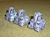 6mm Deathbot War-Pyramids (x4) 3d printed Picture courtesy of Markconz at http://hordesofthings.blogspot.co.nz/