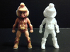 Primacron homage Space Monkey 2.75inch Transformer 3d printed Front view of 2.75 inch Primacron printed in both Full Color Sandstone and White Strong Flexible Polished