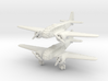 Caproni Ca.311 (2 airplanes) 6mm 1/285 3d printed