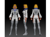 Carly homage Space Woman 6.4inch Full Color Statue 3d printed Carly Digital Turnaround by Tecrom Designs