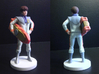 Daniel homage Space Boy 5.44inch Full Color Statue 3d printed Quarter and Back view of 5.44 inch Daniel statue printed in Full Color Sandstone