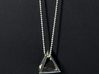 Tetrahedron pendant #Silver 3d printed