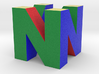"N64 Logo - 2"" Cube Desk Object 3d printed"