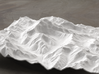 8''/20cm Aconcagua, Argentina, WSF 3d printed Rendering of model looking North up the Valle de los Horcones