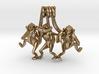 Three wise monkeys 3d printed
