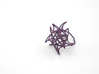 Aster Ring (Small) Size 6 3d printed Eggplant Nylon (Custom Dyed Color)