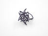 Aster Ring (Small) Size 6 3d printed Midnight Nylon (Custom Dyed Color)