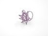 Aster Ring (Small) Size 8 3d printed Wisteria Nylon (Custom Dyed Color)