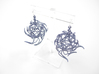Aster Globe Earrings 3d printed Azurite Nylon (Custom Dyed Color)