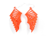 Arithmetic Earrings (Rhombus) 3d printed Coral Nylon (Custom Dyed Color)