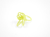Flora Ring A (Size 7) 3d printed Key Lime Nylon (Custom Dyed Color)