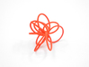 Flora Ring B (Size 7) 3d printed Coral Nylon (Custom Dyed Color)