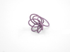 Flora Ring A (Size 6) 3d printed Wisteria Nylon (Custom Dyed Color)