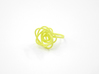 Sprouted Spiral Ring (Size 6) 3d printed Key Lime Nylon (Custom Dyed Color)
