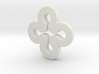 Clover necklace hollow 3d printed